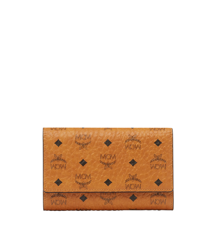 MCM Three Fold Wallet in Visetos Original MYM8SVI49CO001 AlternateView