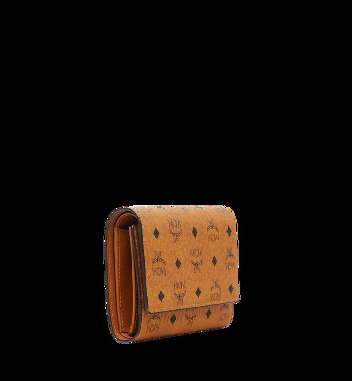 MCM Dreifach gefaltete Brieftasche aus Visetos Original Cognac MYM8SVI49CO001 Alternate View 2