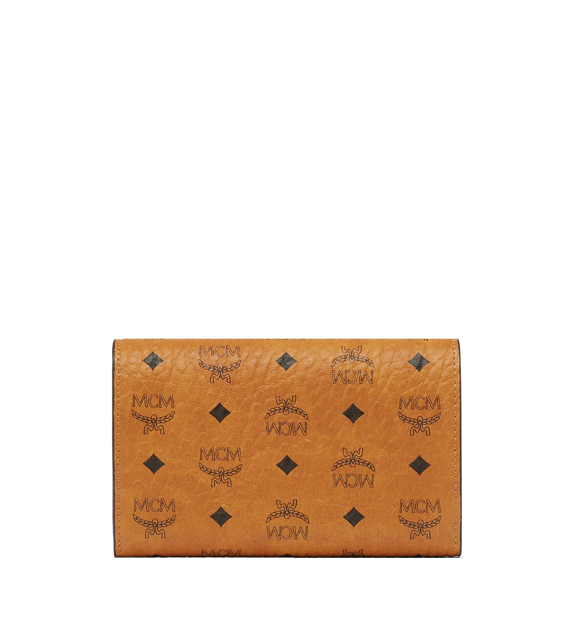 MCM Three Fold Wallet in Visetos Original Cognac MYM8SVI49CO001 更多视角 2