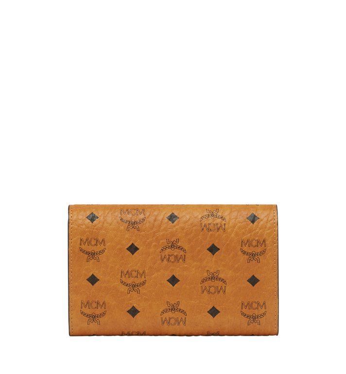 MCM Three Fold Wallet in Visetos Original Cognac MYM8SVI49CO001 Alternate View 3