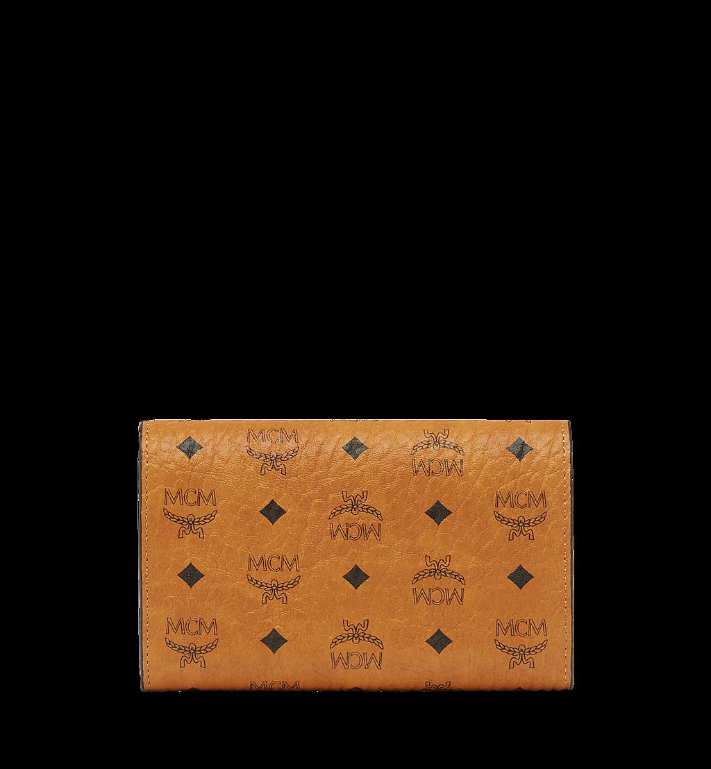 MCM Three Fold Wallet in Visetos Original Cognac MYM8SVI49CO001 Alternate View 2