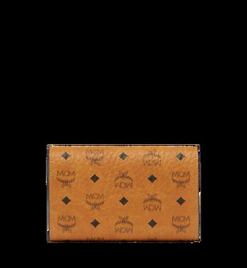 MCM Dreifach gefaltete Brieftasche aus Visetos Original Cognac MYM8SVI49CO001 Alternate View 3
