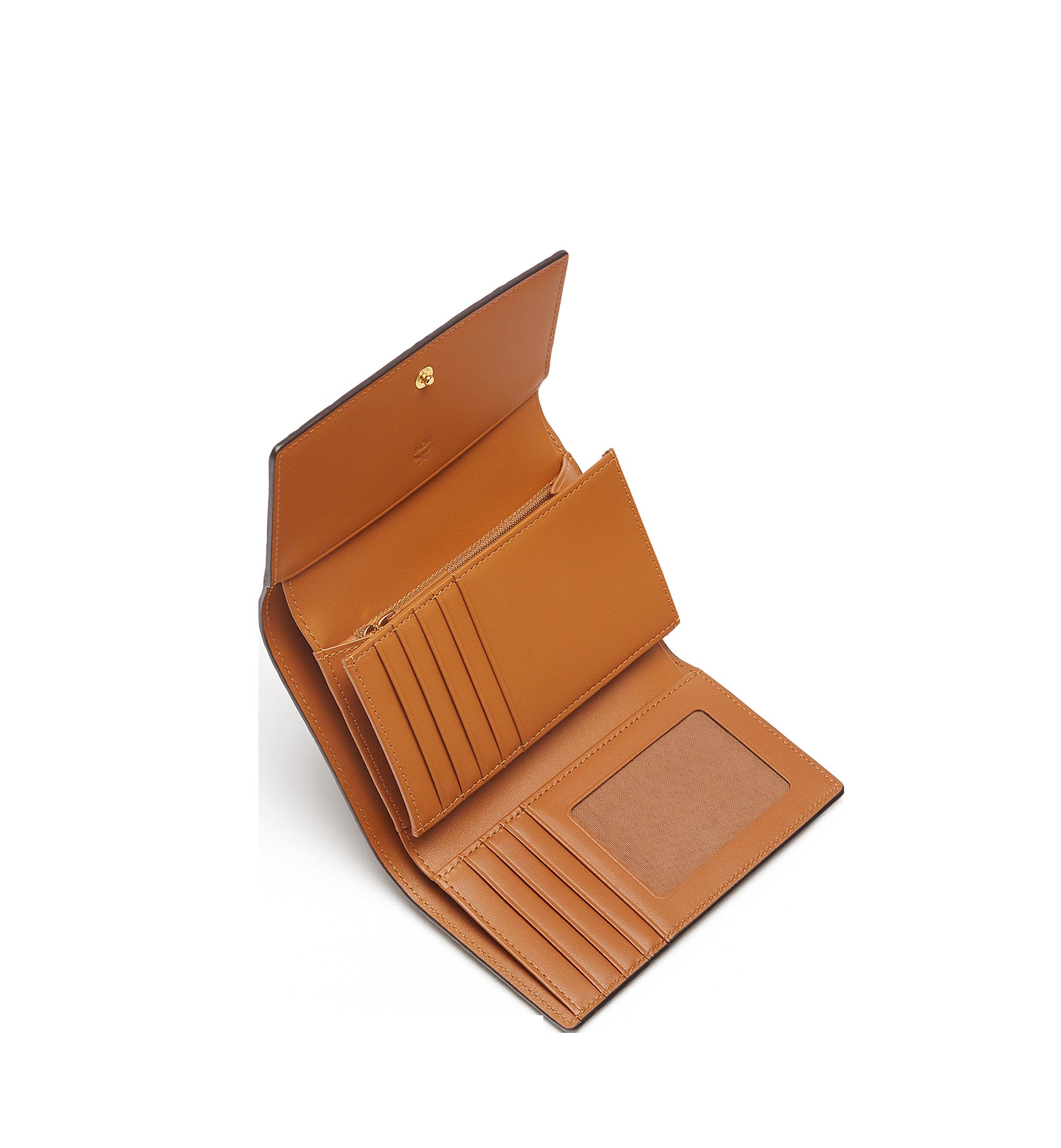 MCM Three Fold Wallet in Visetos Original Cognac MYM8SVI49CO001 更多视角 3