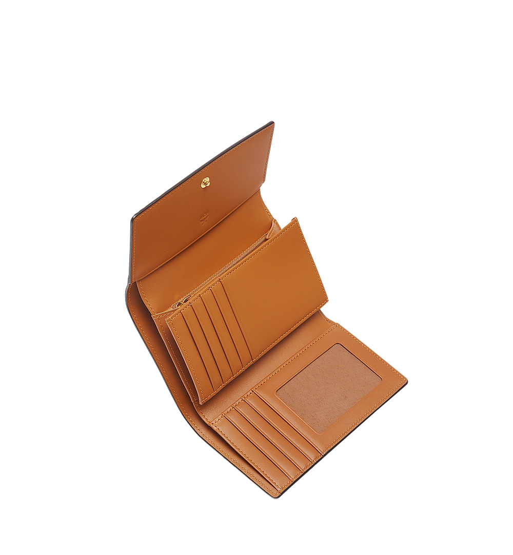 MCM Three Fold Wallet in Visetos Original Cognac MYM8SVI49CO001 Alternate View 3
