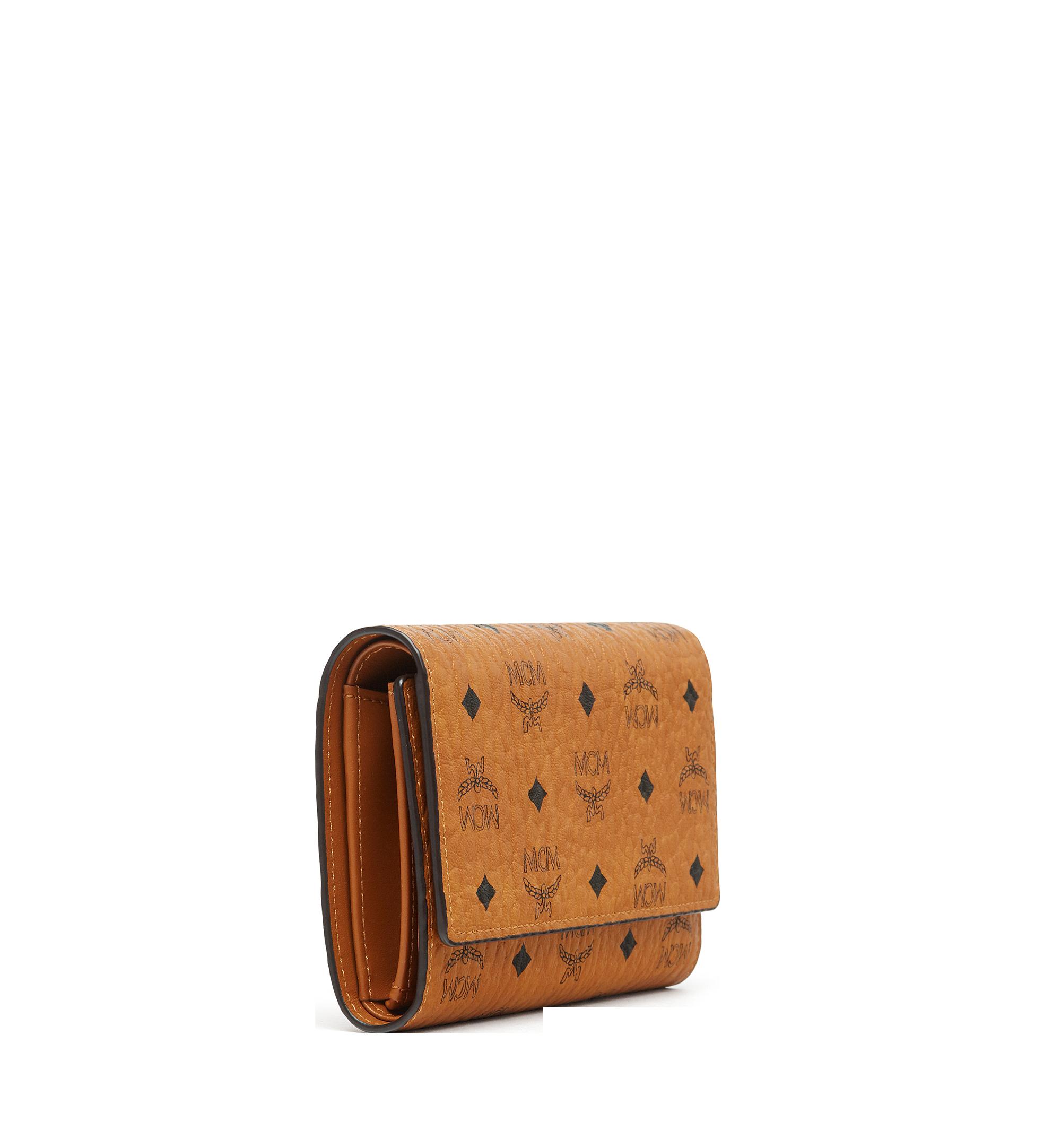 MCM Trifold Wallet in Visetos Original Cognac MYMAAVI01CO001 Alternate View 1