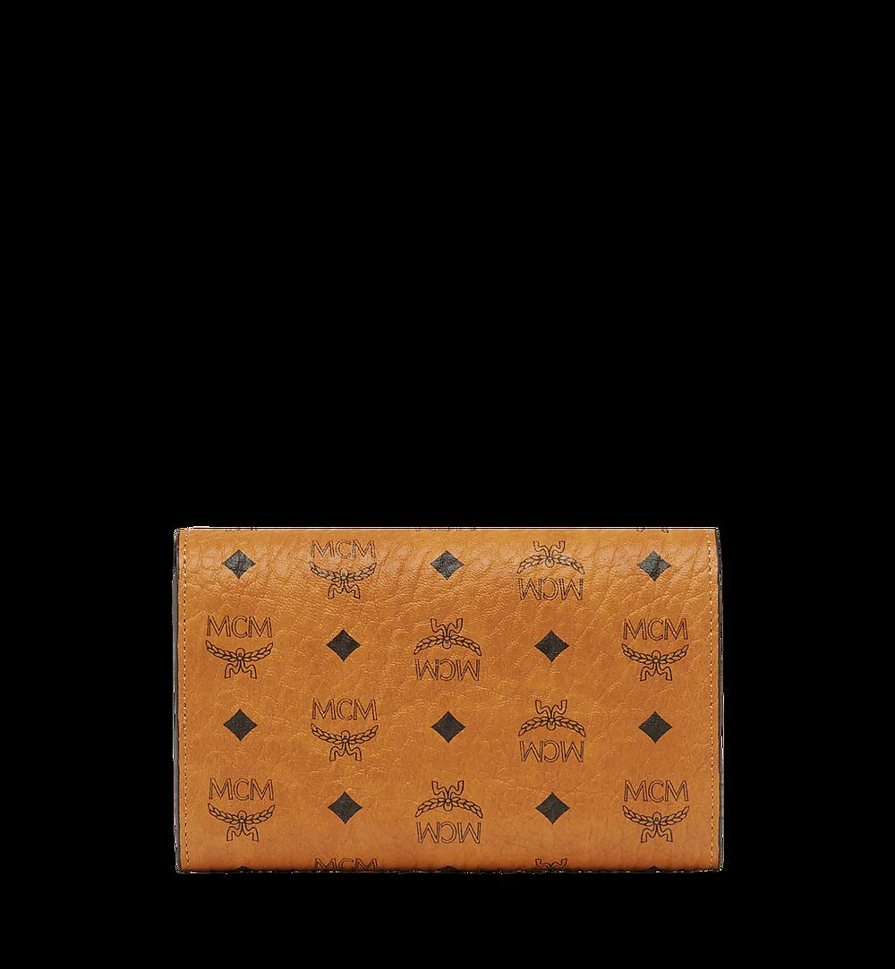 MCM Trifold Wallet in Visetos Original Cognac MYMAAVI01CO001 Alternate View 2
