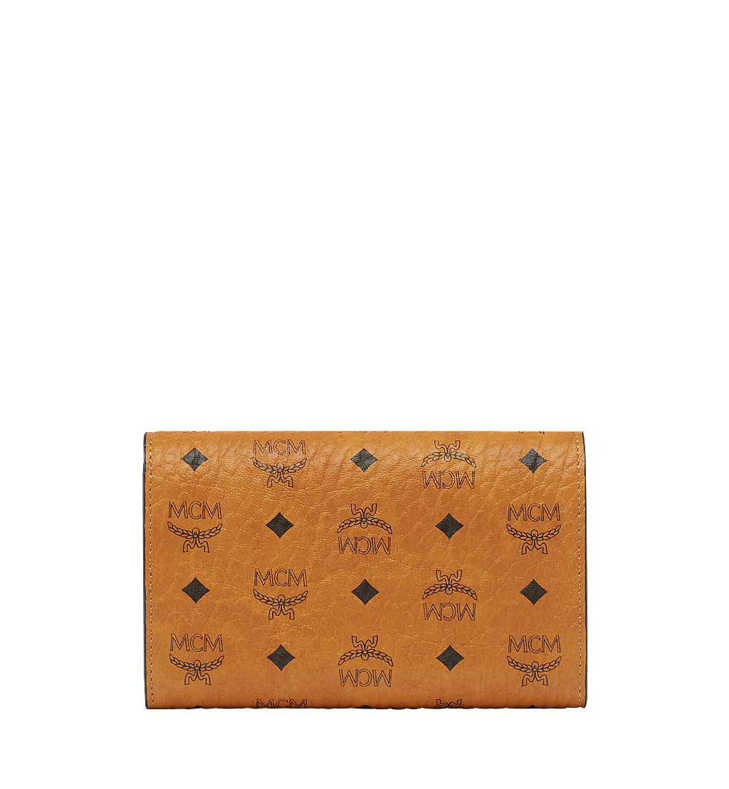 MCM Trifold Wallet in Visetos Original Black MYMAAVI01CO001 Alternate View 2