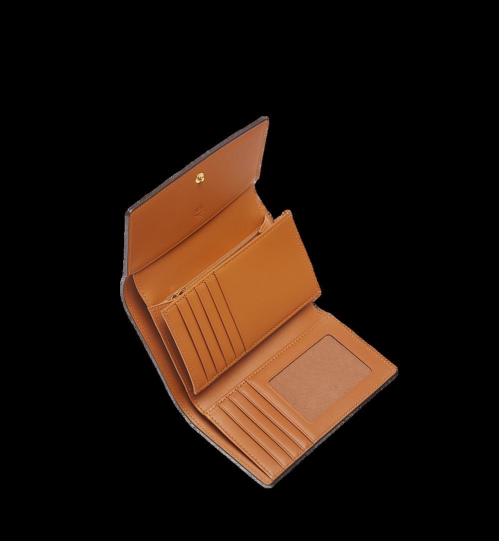 MCM Trifold Wallet in Visetos Original Cognac MYMAAVI01CO001 Alternate View 3
