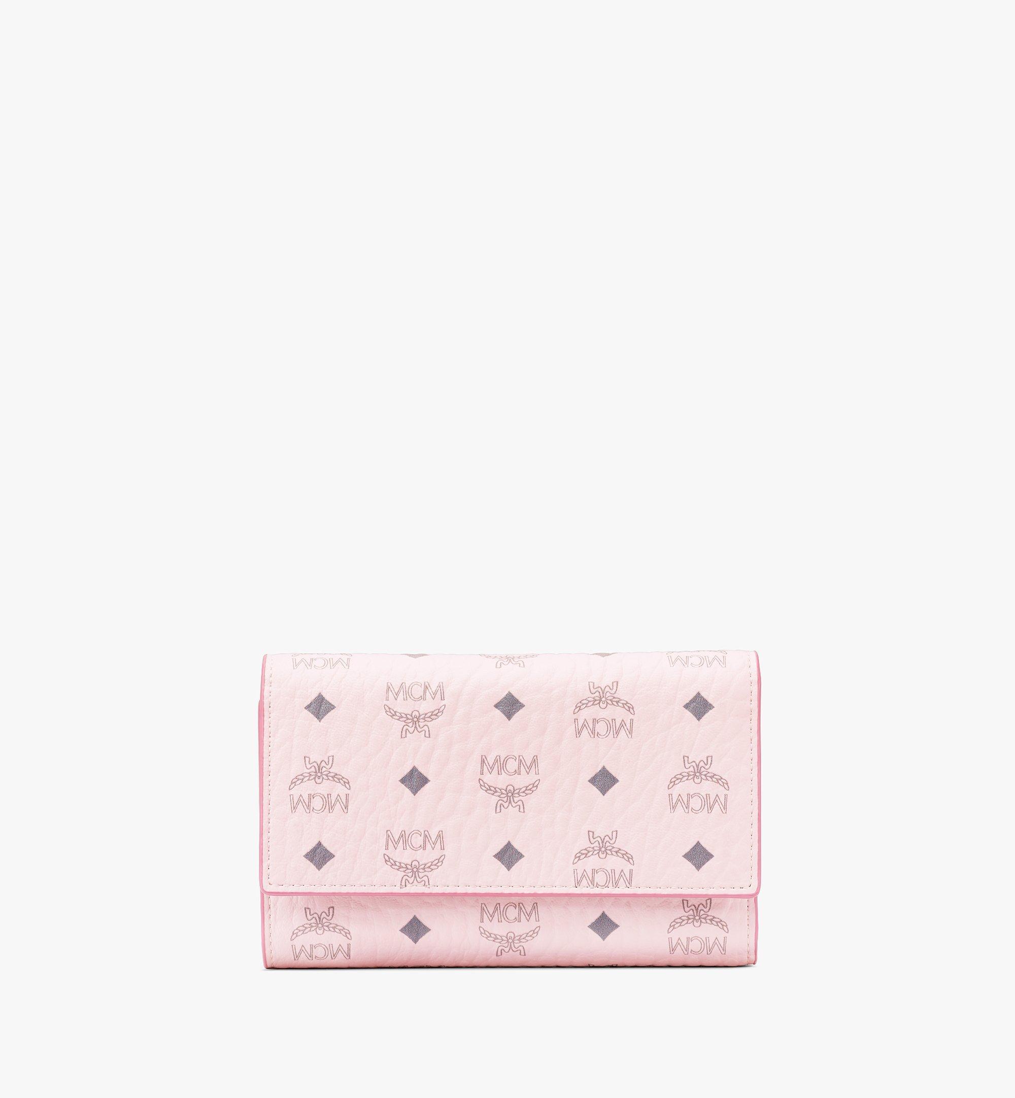 MCM 〈ヴィセトス オリジナル〉三つ折りウォレット Pink MYMAAVI01QH001 ほかの角度から見る 1