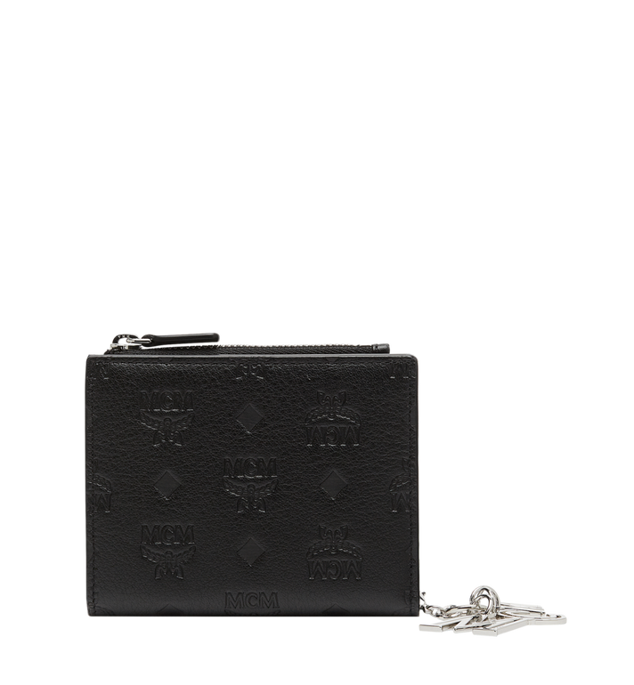 MCM Two Fold Flat Wallet in Monogram Leather Charm MYS8AKM13BK001 AlternateView