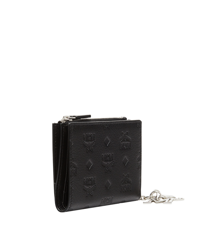 MCM Two Fold Flat Wallet in Monogram Leather Charm MYS8AKM13BK001 AlternateView2