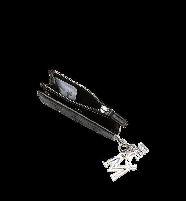MCM Two Fold Flat Wallet in Monogram Leather Charm MYS8AKM13BK001 AlternateView5