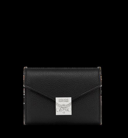 Dreifach gefaltete Patricia Crossbody Brieftasche aus genarbtem Leder