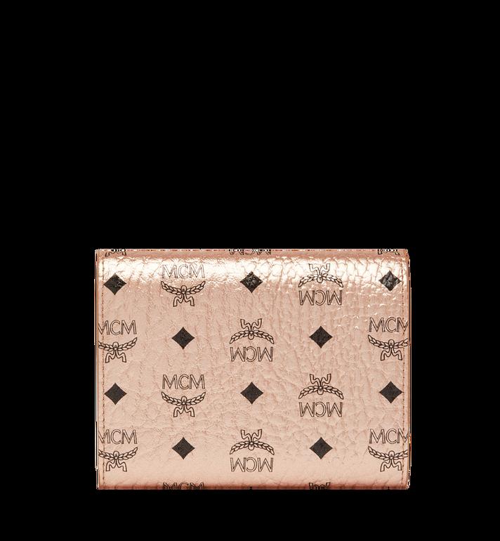 MCM Three Fold Wallet in Visetos Original Alternate View 3