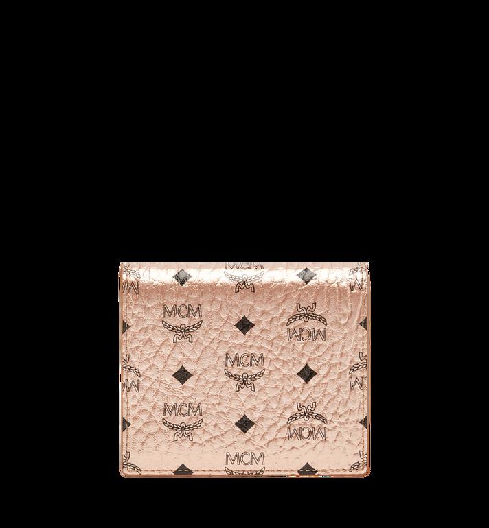 MCM Two Fold Flat Wallet in Visetos Original Alternate View
