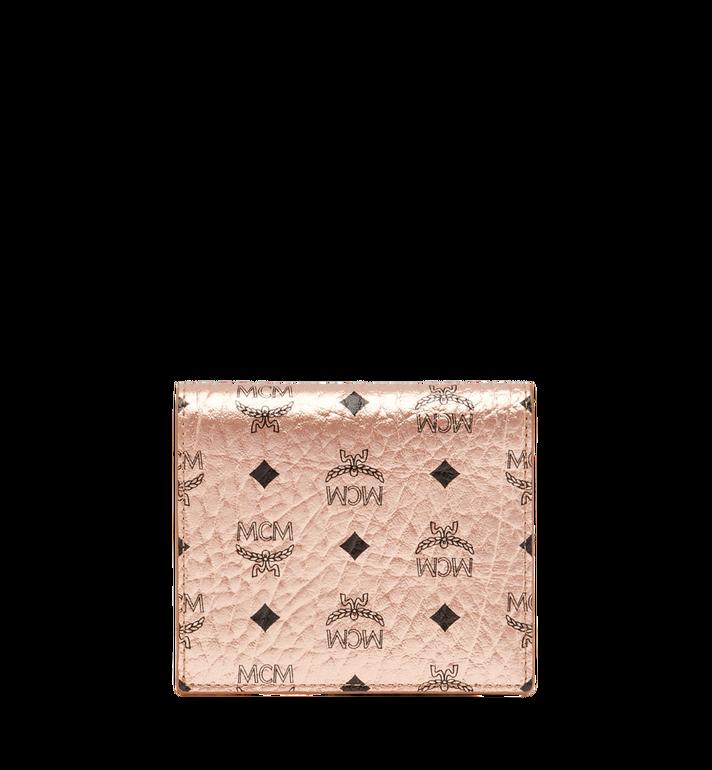 MCM Two Fold Flat Wallet in Visetos Original MYS8AVI94TC001 AlternateView3