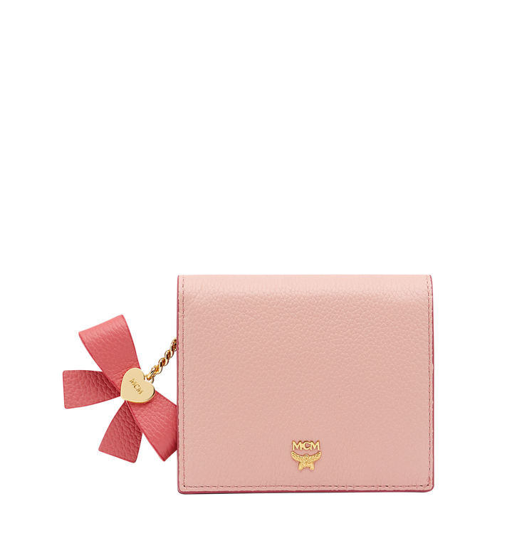 MCM Mina Bow Charm Two Fold Wallet in Leather Alternate View