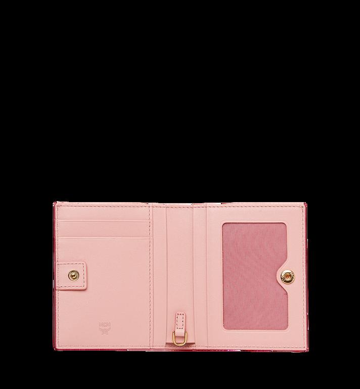 MCM Portefeuille à deux volets Mina Bow Charm en cuir Pink MYS8SLL70PV001 Alternate View 4
