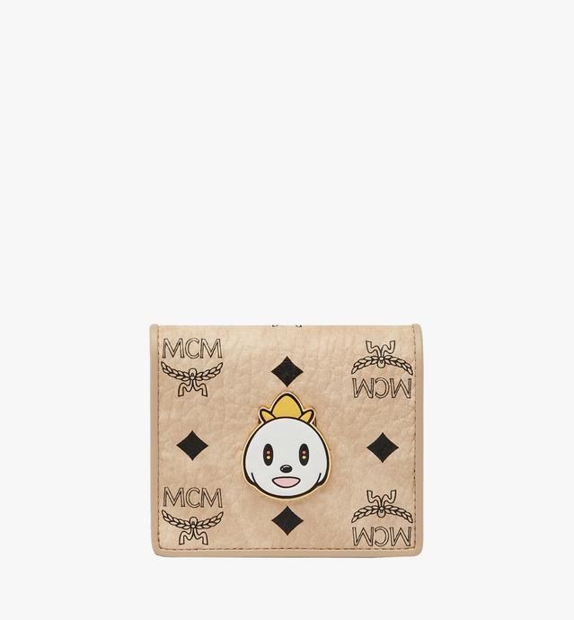 MCM x Eddie Kang gefaltete Brieftasche in Visetos