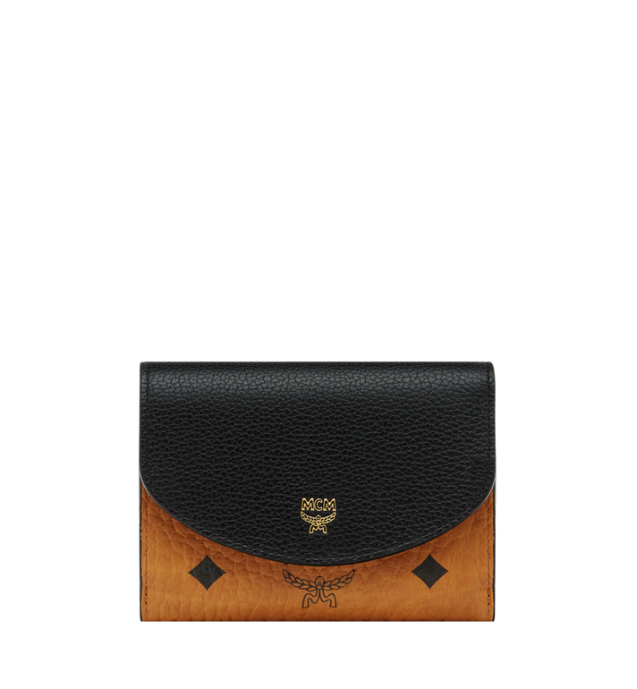 MCM Three Fold Wallet in Visetos Colorblock Leather Alternate View