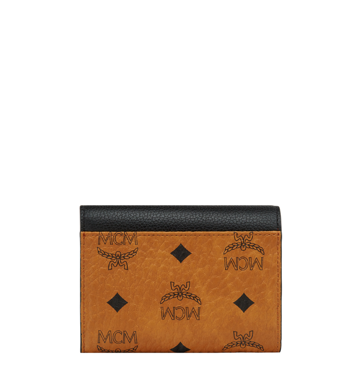 MCM Three Fold Wallet in Visetos Colorblock Leather Alternate View 2