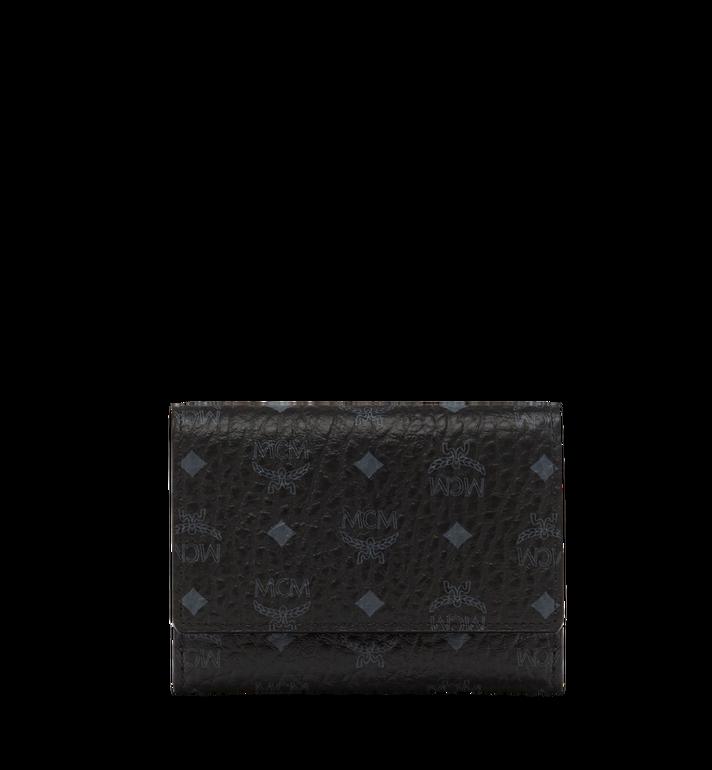 MCM Three Fold Wallet in Visetos Original MYS8SVI83BK001 AlternateView
