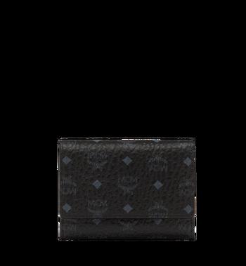 MCM Dreifach gefaltete Brieftasche aus Visetos Original MYS8SVI83BK001 AlternateView