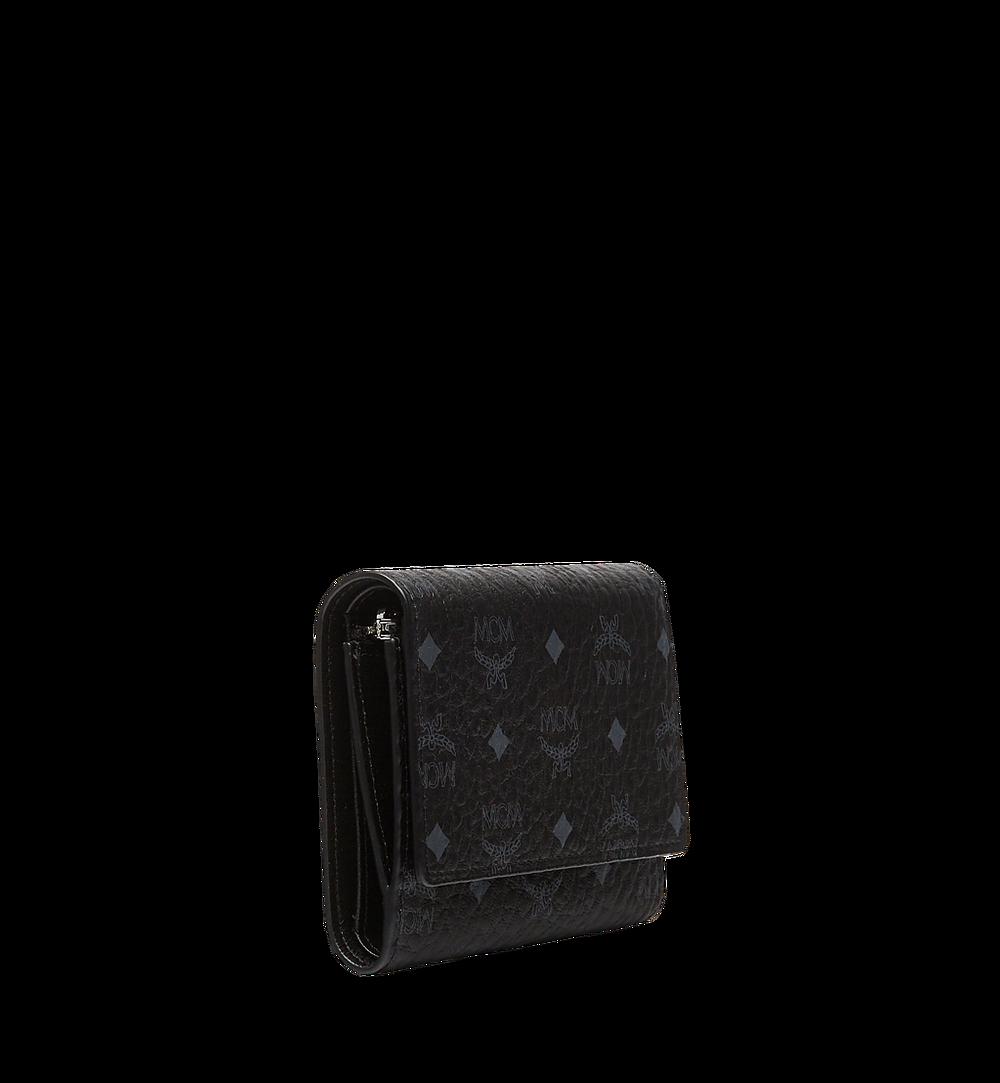 MCM Three Fold Wallet in Visetos Original Black MYS8SVI83BK001 Alternate View 1