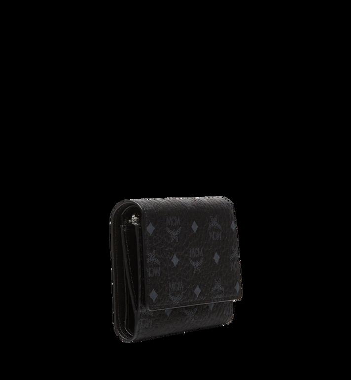 MCM Three Fold Wallet in Visetos Original MYS8SVI83BK001 AlternateView2