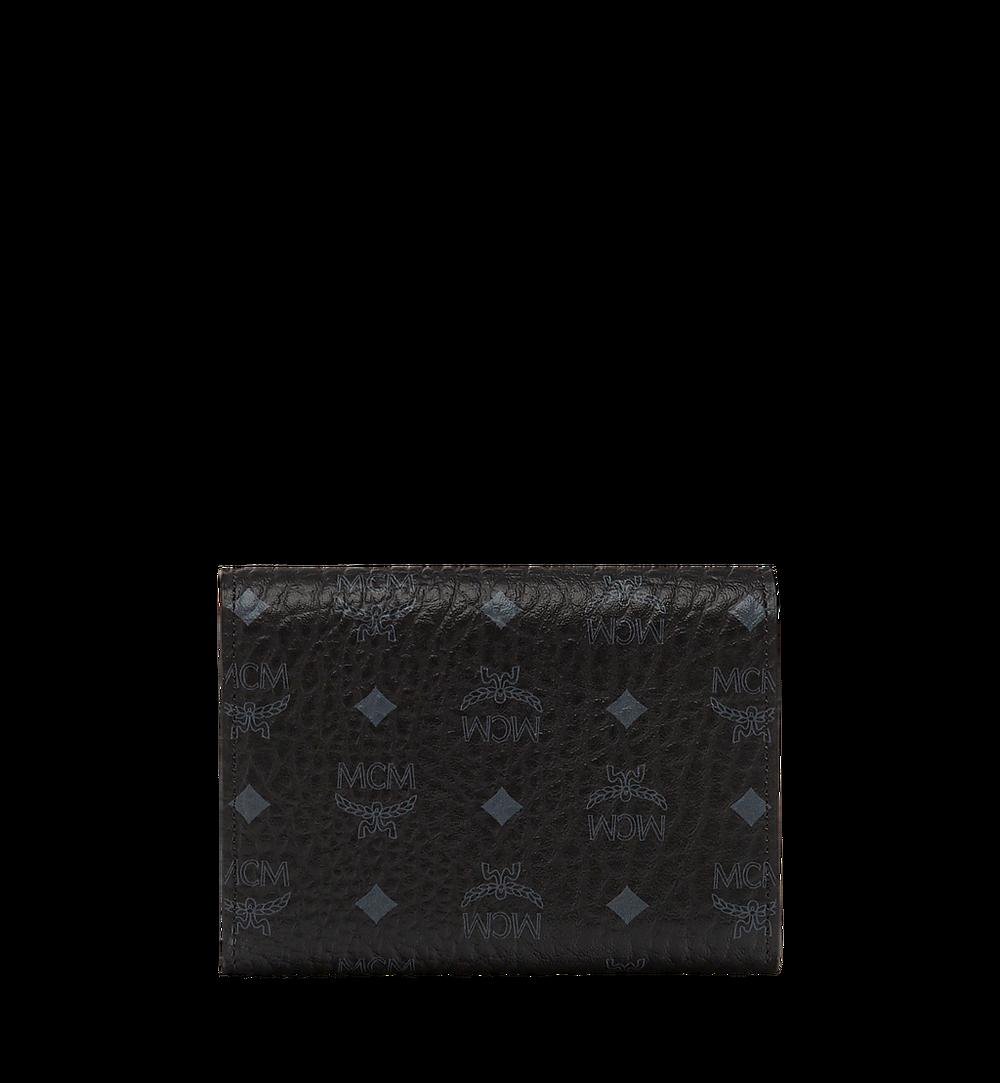 MCM Three Fold Wallet in Visetos Original Black MYS8SVI83BK001 Alternate View 2