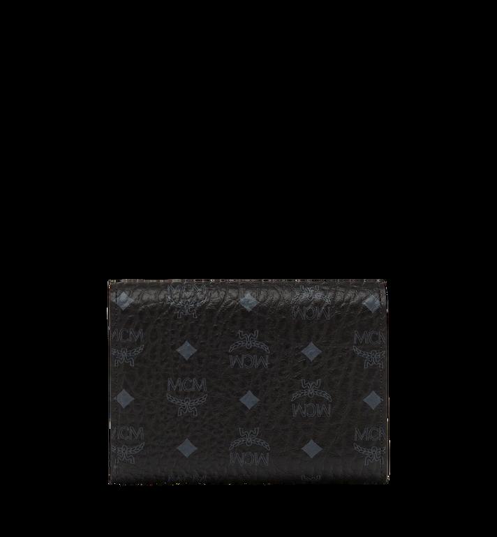MCM Three Fold Wallet in Visetos Original MYS8SVI83BK001 AlternateView3
