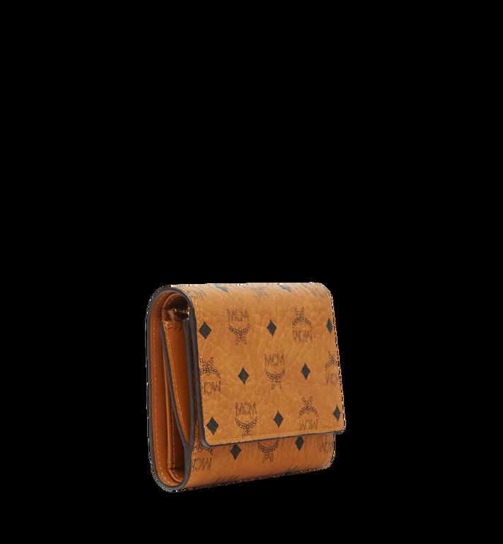 MCM Three Fold Wallet in Visetos Original Cognac MYS8SVI83CO001 Alternate View 2