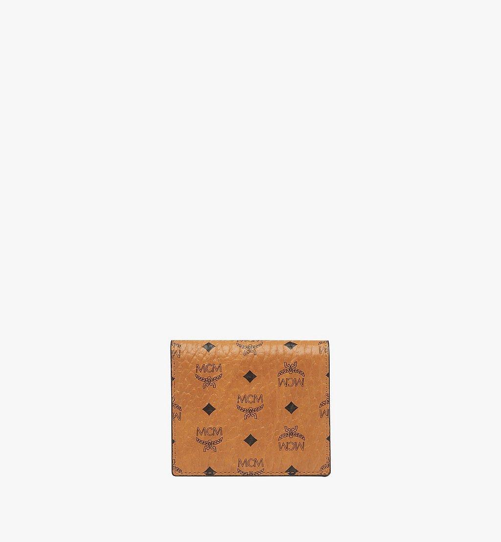 MCM Two Fold Wallet in Visetos Original Cognac MYS8SVI94CO001 Alternate View 1