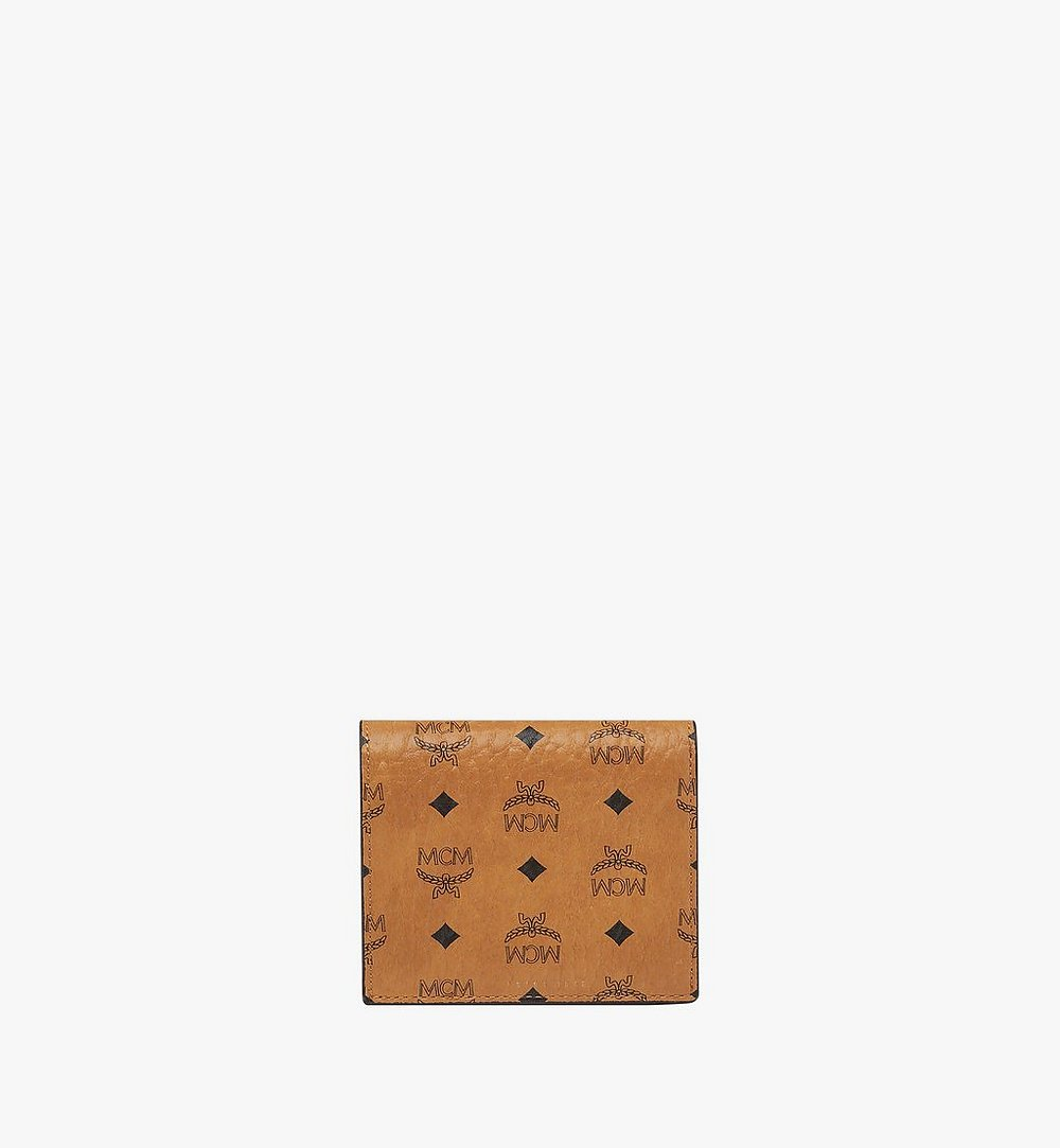 MCM Two Fold Wallet in Visetos Original Cognac MYS8SVI94CO001 Alternate View 2