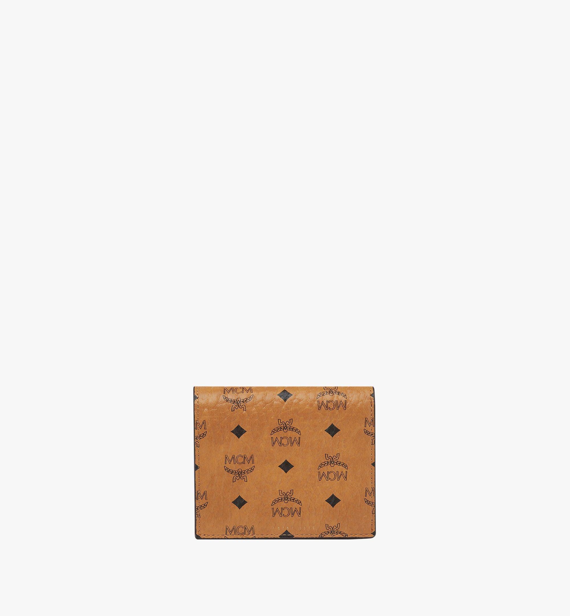 MCM Two Fold Wallet in Visetos Original Cognac MYS8SVI94CO001 Alternate View 3
