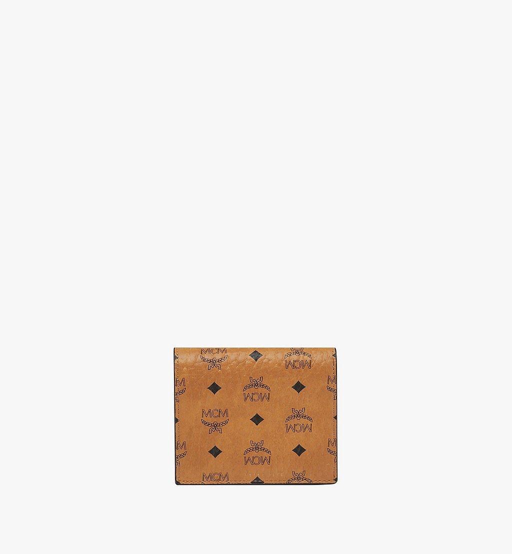 MCM Two Fold Wallet in Visetos Original Cognac MYS8SVI94CO001 Alternate View 2