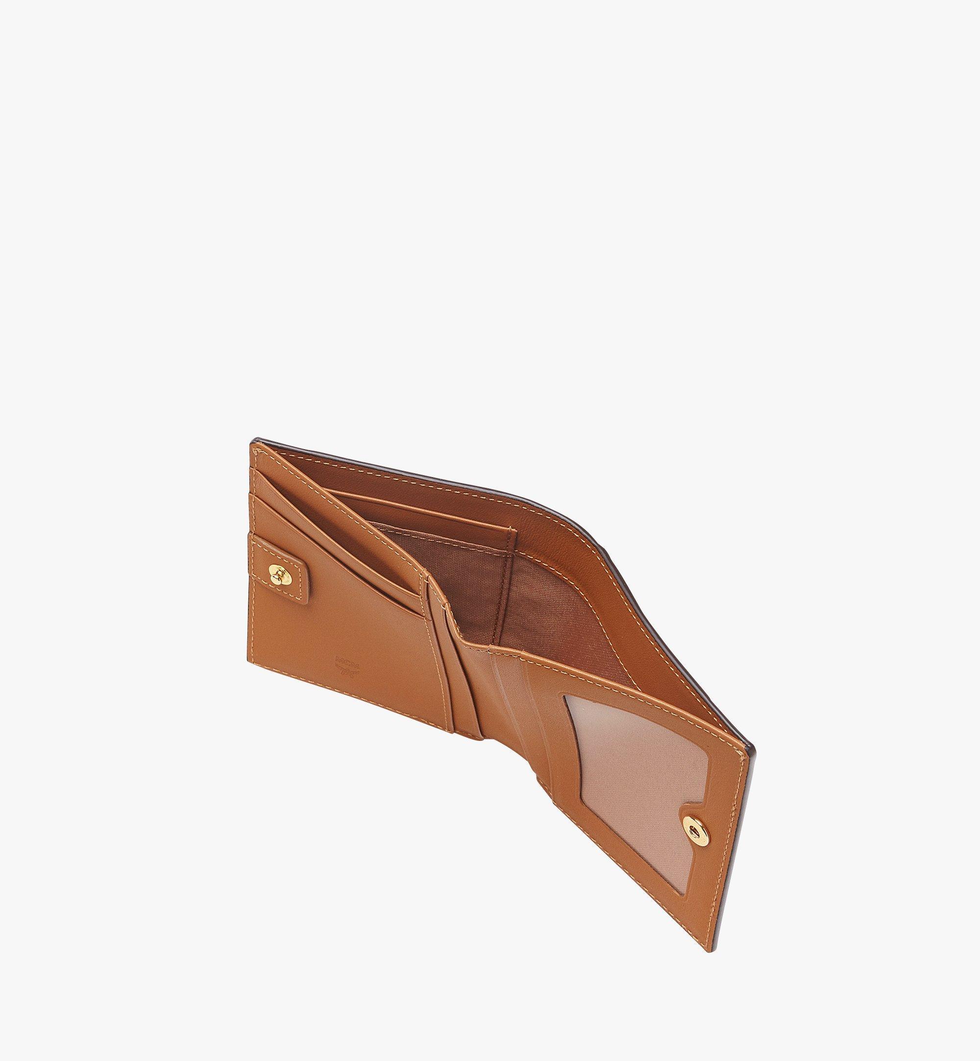MCM Two Fold Wallet in Visetos Original Cognac MYS8SVI94CO001 Alternate View 4