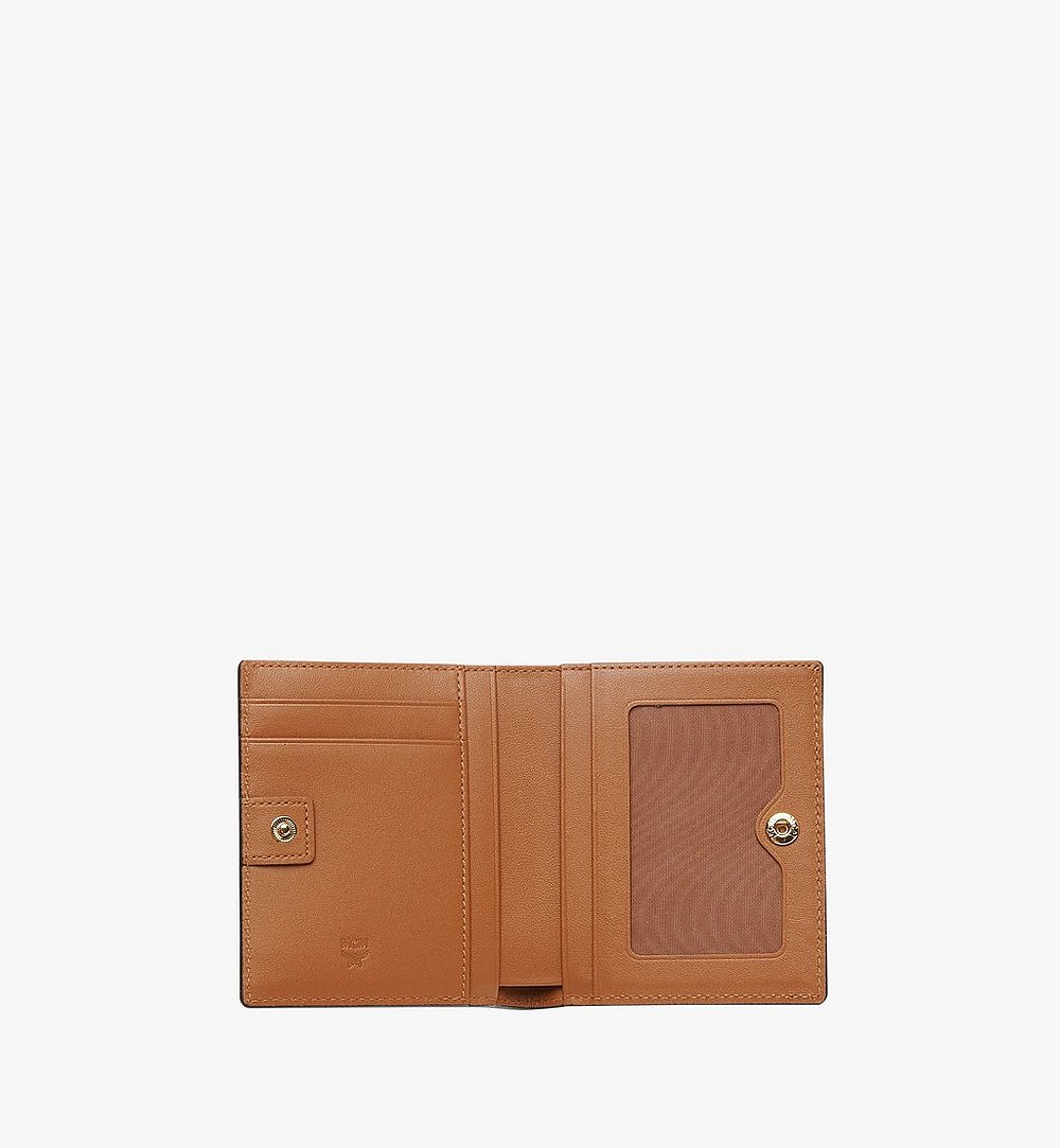 MCM Two Fold Wallet in Visetos Original Cognac MYS8SVI94CO001 Alternate View 4