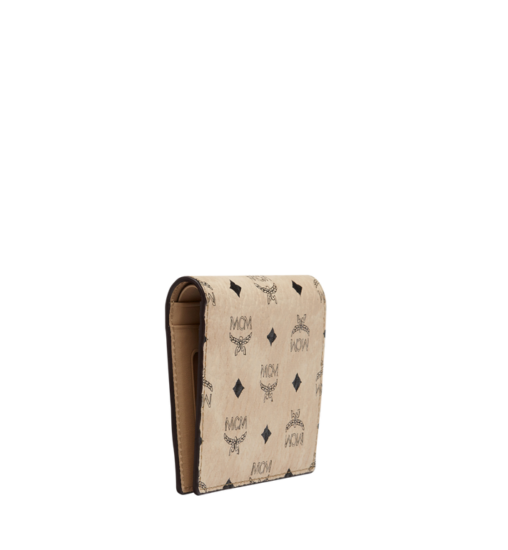 MCM Two Fold Wallet in Visetos Original Beige MYS8SVI94IG001 Alternate View 2