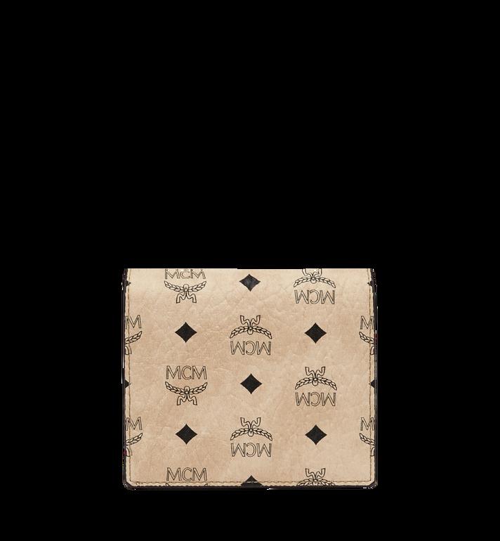 MCM Two Fold Wallet in Visetos Original Beige MYS8SVI94IG001 Alternate View 3