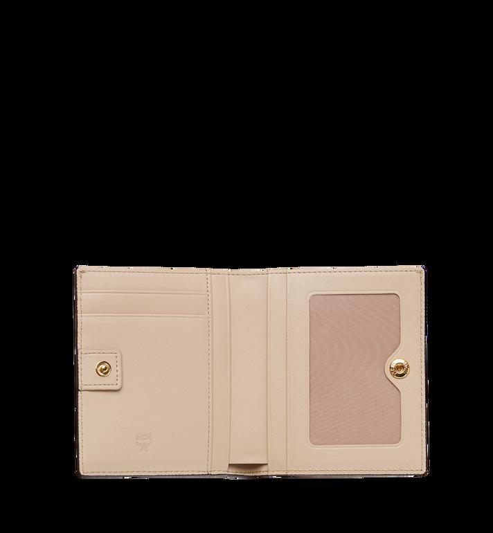 MCM Two Fold Wallet in Visetos Original Beige MYS8SVI94IG001 Alternate View 4