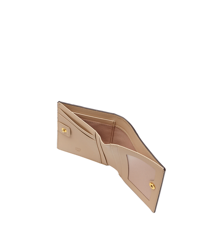 MCM Two Fold Wallet in Visetos Original Beige MYS8SVI94IG001 Alternate View 5