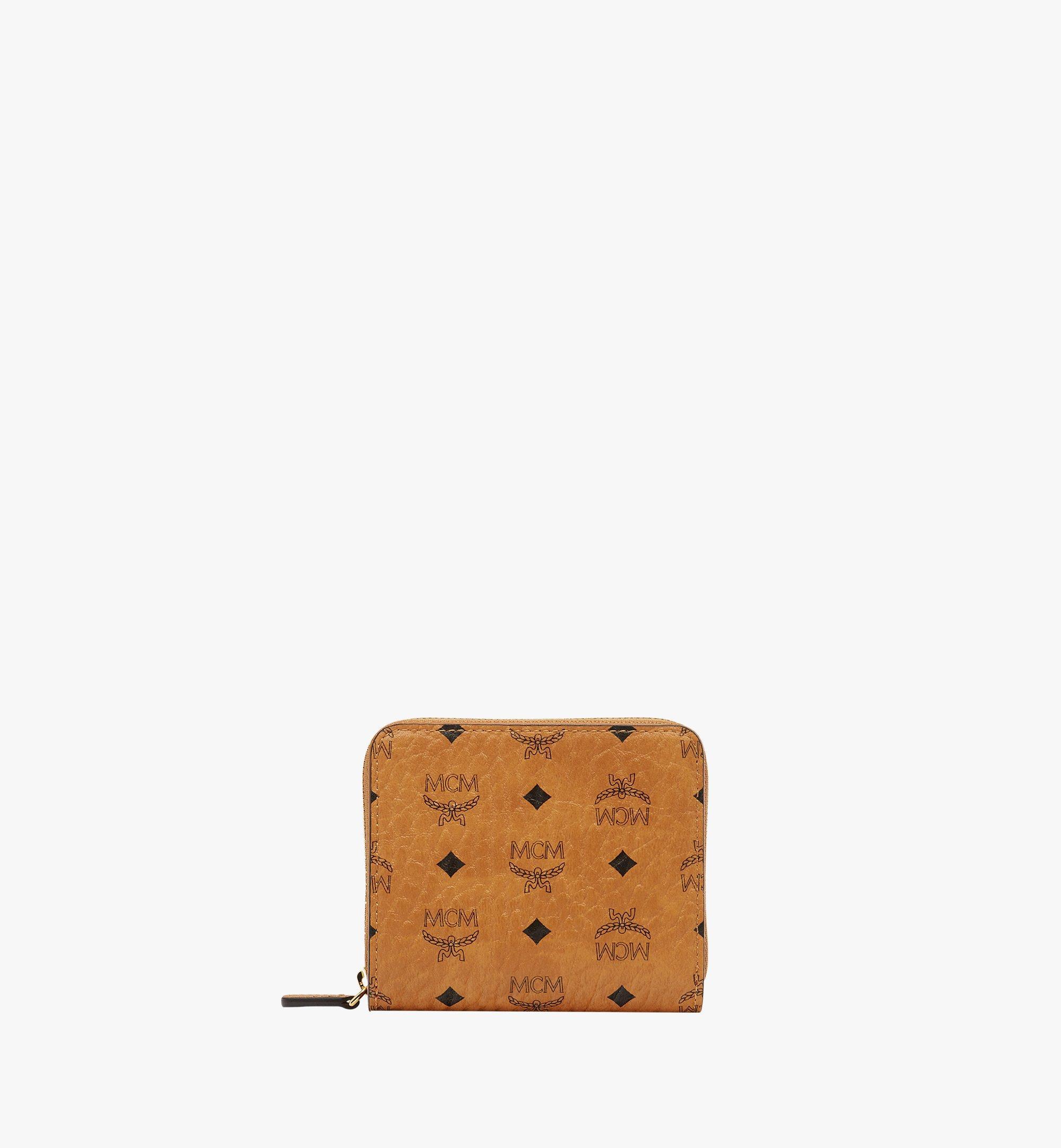 MCM Original Brieftasche mit Rundum-Reißverschluss in Visetos Cognac MYS8SVI95CO001 Noch mehr sehen 1