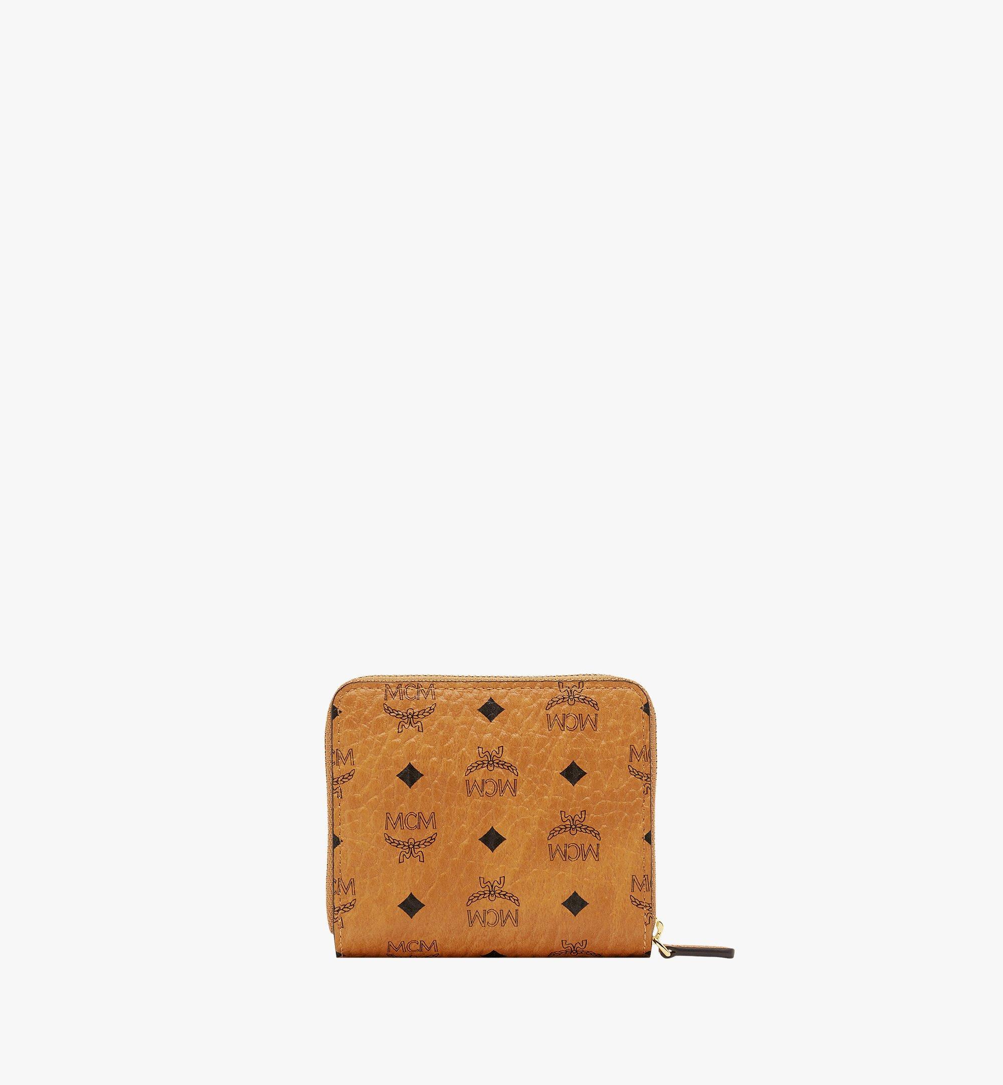 MCM Original Brieftasche mit Rundum-Reißverschluss in Visetos Cognac MYS8SVI95CO001 Noch mehr sehen 2