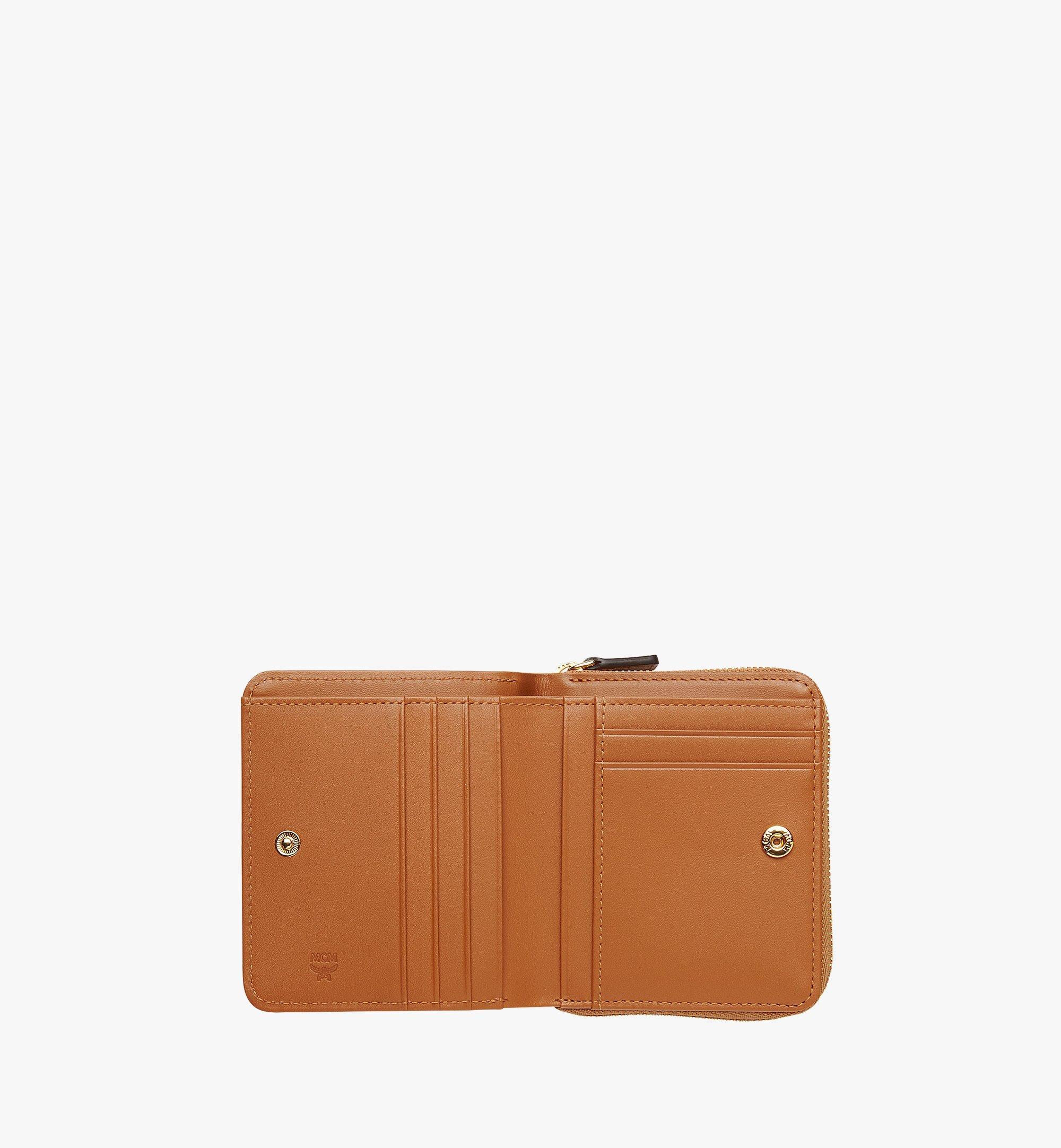 MCM Original Brieftasche mit Rundum-Reißverschluss in Visetos Cognac MYS8SVI95CO001 Noch mehr sehen 3