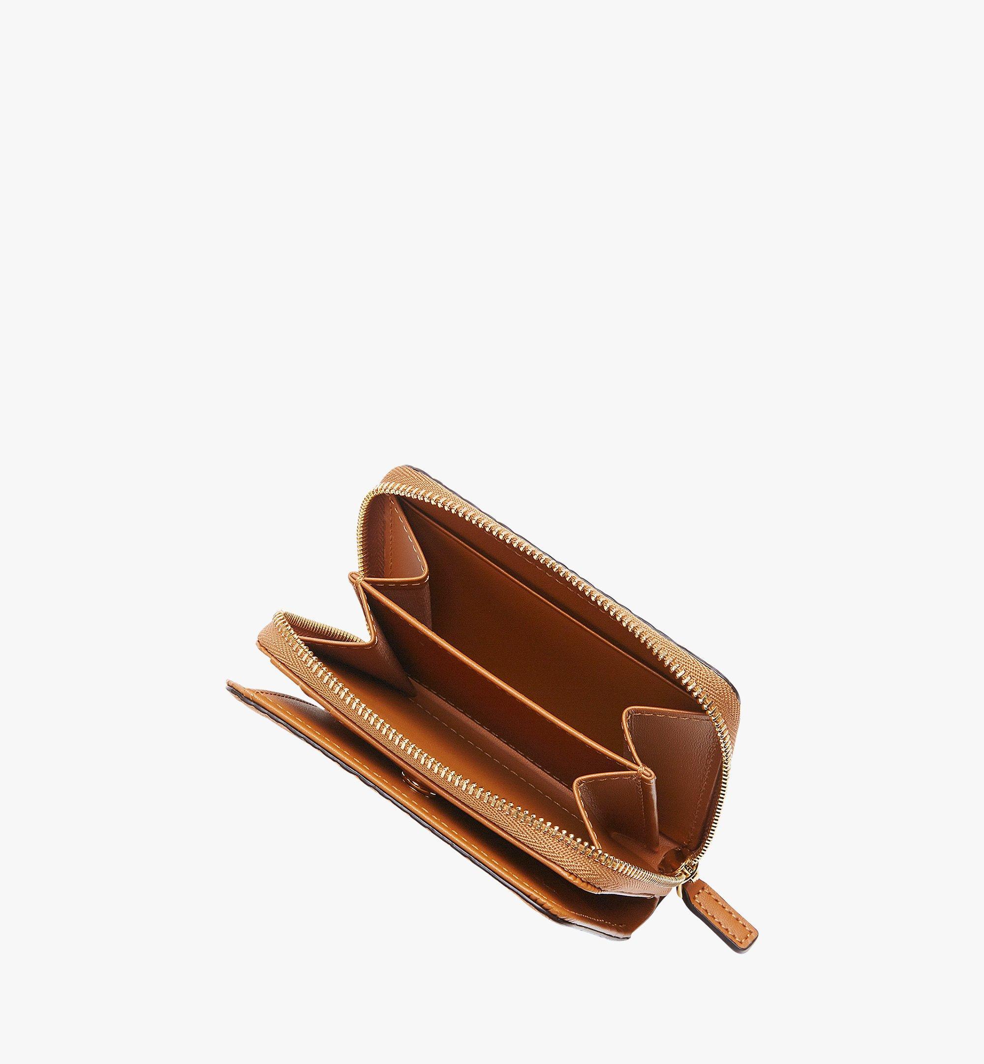 MCM Original Brieftasche mit Rundum-Reißverschluss in Visetos Cognac MYS8SVI95CO001 Noch mehr sehen 4