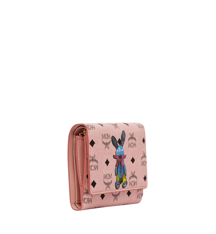 MCM Rabbit Three Fold Wallet in Visetos Alternate View 2
