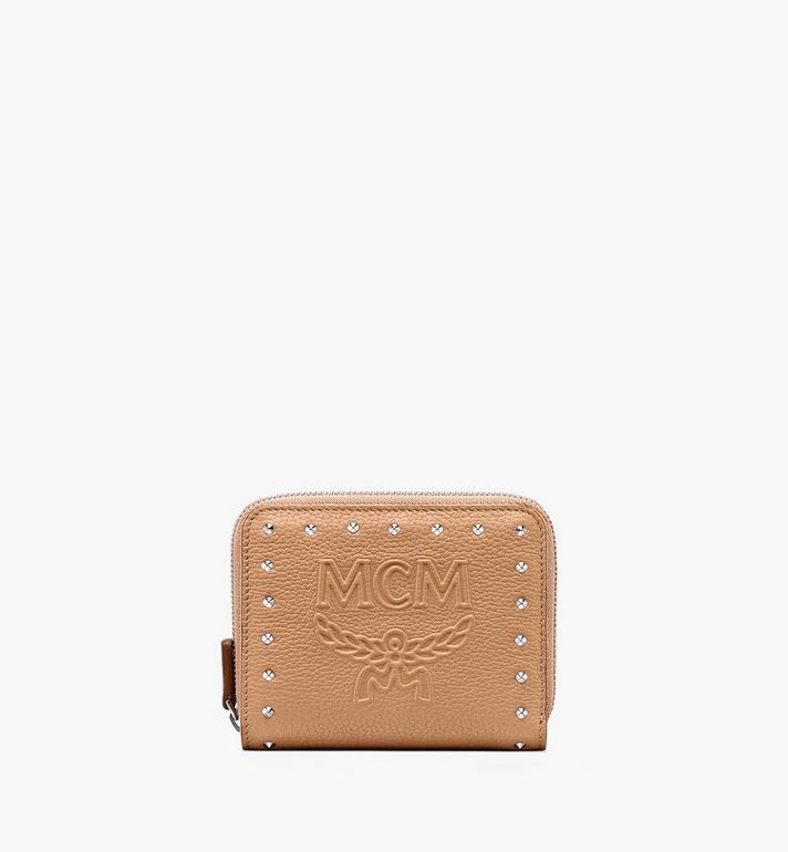 MCM Chanswell Zip Wallet in Park Avenue Leather Alternate View
