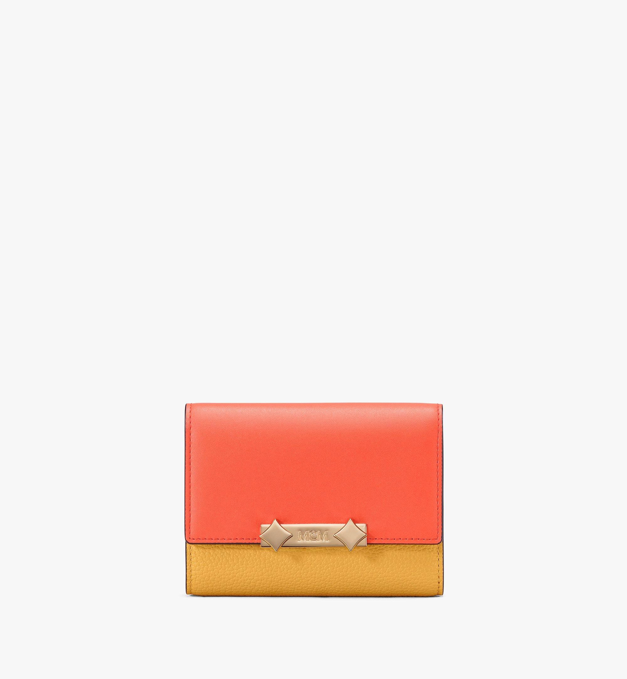 MCM Milano Three-Fold Wallet Yellow MYS9ADA03YJ001 Alternate View 1