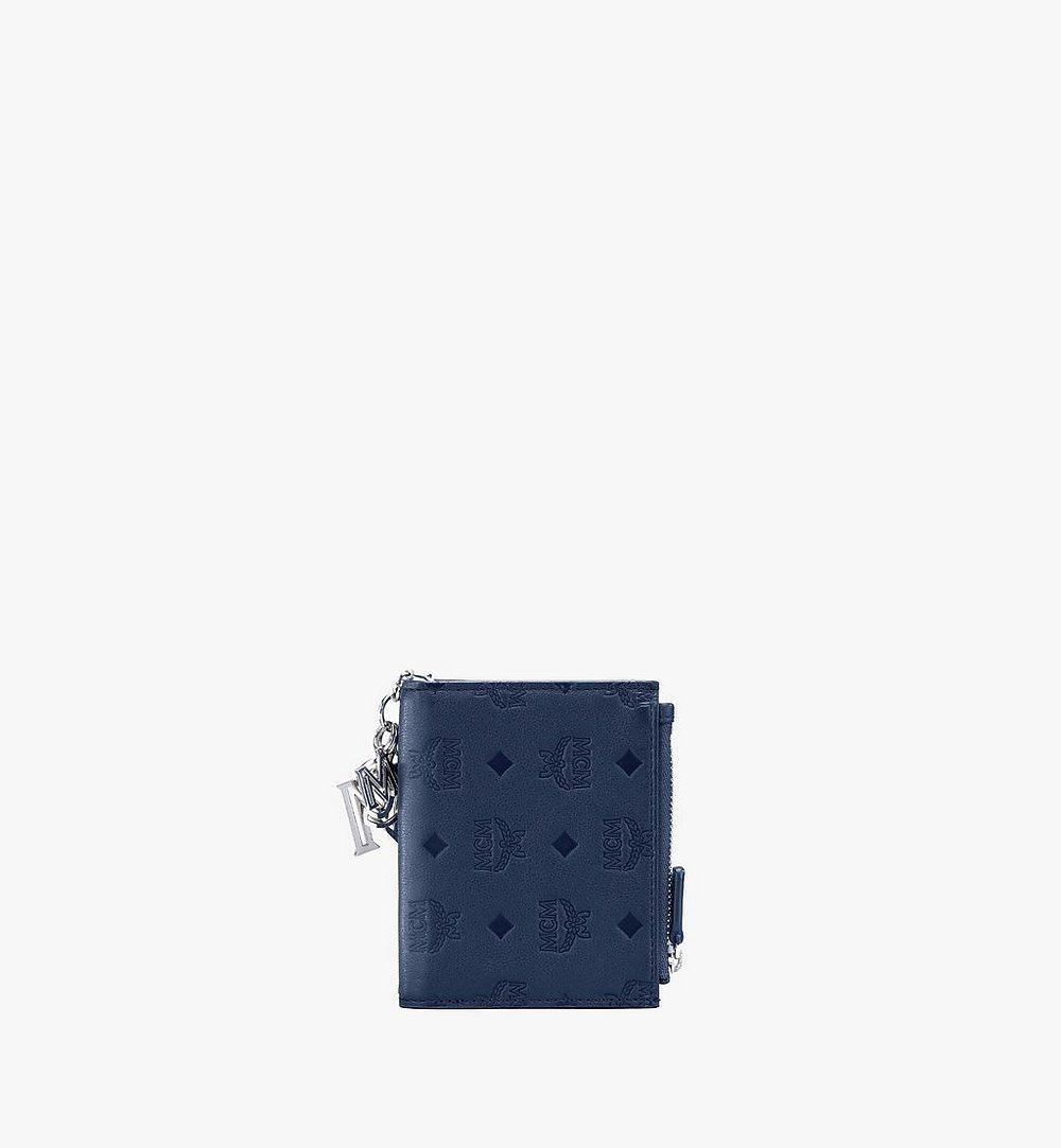 MCM Klara Two-Fold Wallet in Monogram Leather Navy MYS9AKM13VA001 Alternate View 1